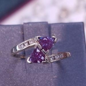 10k created alexandrite ring
